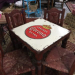 Corona Metal Top Table and 4 Wood Chairs Item#445404